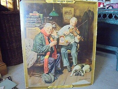 Vintage 1938 Wilken Family Whiskey stand up Advertising Sign Harold Anderson
