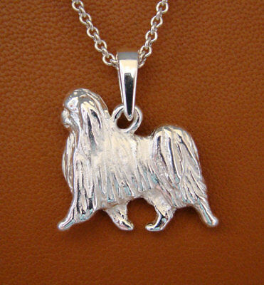 Sterling Silver Japanese Chin Moving Study Pendant