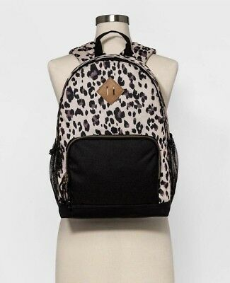 Mossimo Supply Co Womens Leopard Print Backpack Black