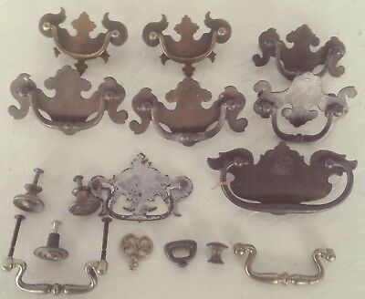 Vintage Lot of 16 Drawer and Cabinet Pulls