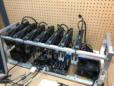 7 GPU GTX 1060 Ethereum Mining rig 160 MH/s Plug and play! ETH, ZCash + Others