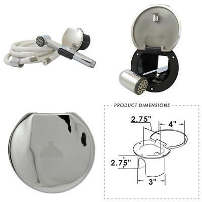 ITC 97016CPN-8 Marine Wash Down Shower with 8 Nylon Hose Manufacturers Select ITC White Plastic Transom Shower