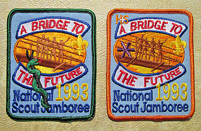 """1993 Jamboree """"MEDICAL STAFF"""" & """"HEALTH & SAFETY"""" Patches....MINT!"""