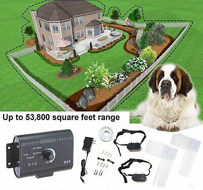 Underground Electric Dog Fence 2 Shock Collars Hidden Fencing System Safety US
