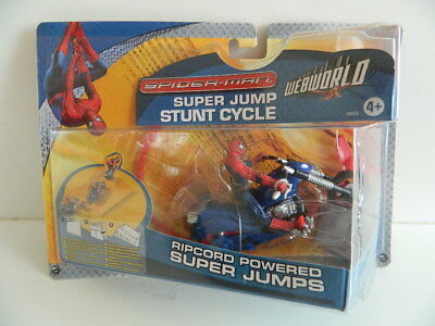 == Spider- Man = Super Jump Stunt Cycle = Neu / Ovp ==