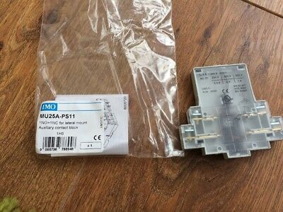 IMO MU25A-PS11 1NO 1NC For Lateral Mount Auxiliary Contact Block