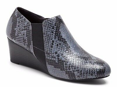Vionic by Orthaheel ELEVATED STANTON GREY SNAKE Women's Shoes NIB