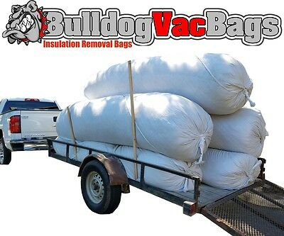 20 Insulation Waste Removal Vacuum Bags, Holds 105 Cu Ft, 420 lbs, $11.99 / bag!