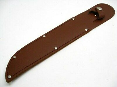 "Brown Leather Belt Sheath For Straight Fixed Knife Up To 8"" Blade SH260"