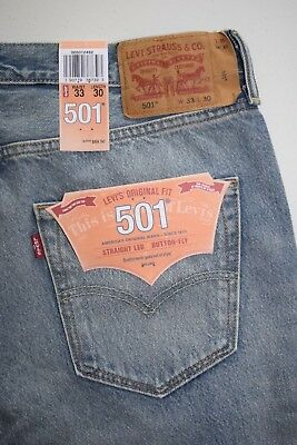 Men's Levi's ORIGINAL FIT 501 Straight leg Button-Fly Ripped Jeans 005012482