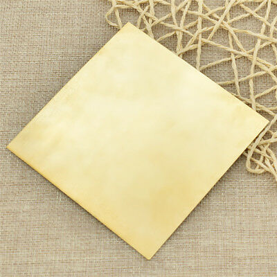 1pc Brass Metal Yellow Copper Thin Sheet Metal Craft 10cm*10cm*0.5mm Hot Sale