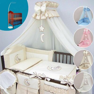 HOLDER Fits COT BED LUXURY BABY CANOPY //DRAPE 480cm WIDTH BLUE CHECK STAR