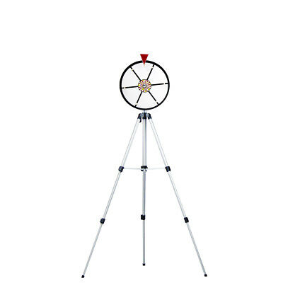 12 Inch White Dry Erase Laminated Spinning Prize Wheel with Stand New