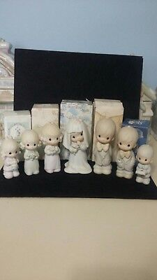 Precious Moments Wedding Party 7 piece, sold Each, some boxes