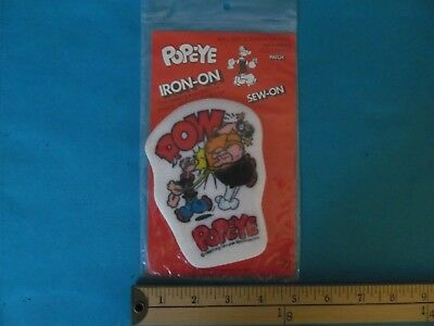 1 Rare 1980 Popeye King Features Brutus Pow Cartoon Comic Mint In Package Patch