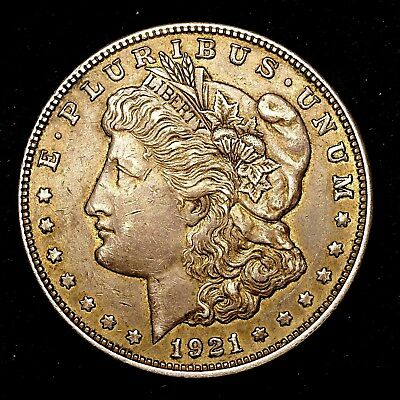 1921 D ~**ABOUT UNCIRCULATED AU**~ Silver Morgan Dollar Rare US Old Coin! #V75