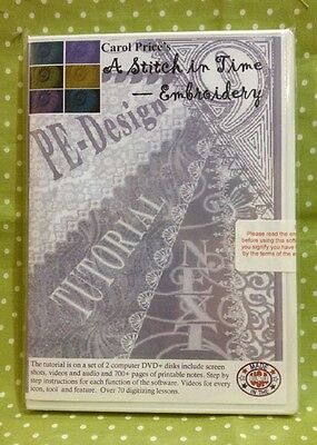 Brother Embroidery Software Carol Price PE-DESIGN 9/Next TUTORIAL DVD + Cutwork