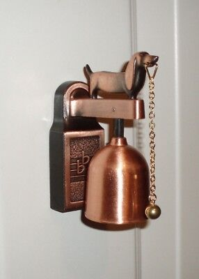 Dachshund Copper Door Bell / Shop Bell with Magnetic, Tape or Screw Mount NIP