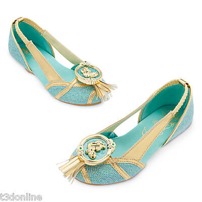 Authentic Disney Princess Jasmine Costume Shoes for Kids Girl New