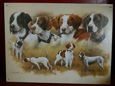 The Nobles Chandler print on metal sign Brittany Pointer GSP English Setter