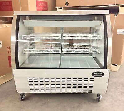 """Deli Case 48"""" Curved Glass Display Bakery Case Pastry Meat NEW 4' Refrigerated"""