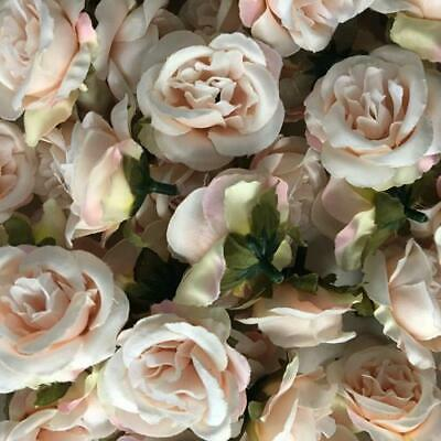 Artificial Silk Flower Heads - Vintage Pink Rose Style 38 - 5 Pack