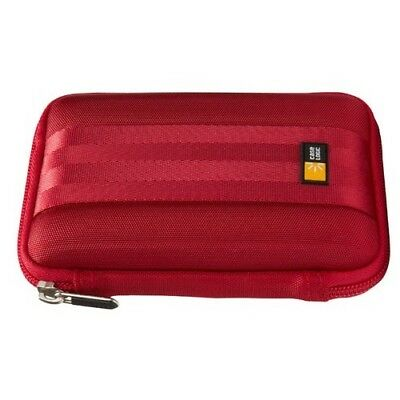 Case Logic QHDC-101 Compact Portable Hard Drive (Red) HDD Carrier Zippered CASE LOGIC