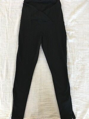 Ingrid & Isabel 'Active' Maternity Leggings with Crossover Panel Black Size S