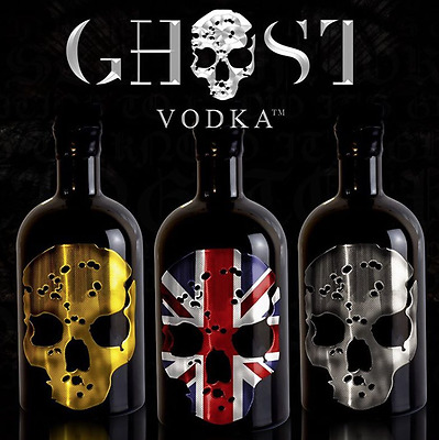 Ghost Vodka - Uk - 40% Alc - Gold Skull