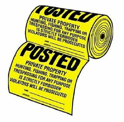 Tyvek TSR-100 Posted Private Property No Hunting or Trespassing Signs 100 Count