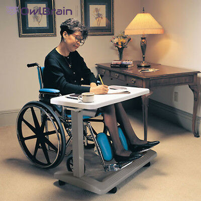 Adjustable Overbed Table Large Surface Use Table Over Bed, Chair or Wheelchair