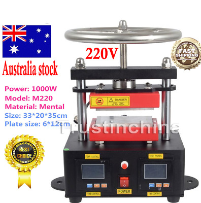 "2000+ PSI Professional Hand Crank Rosin Press Duel Heated Plates (2.4""x4.7"")  AU"