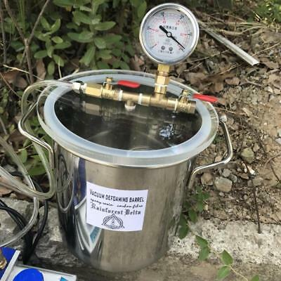 1.5 Gallon Stainless Steel Vacuum Degassing Chamber for Resin, Glue Acrylic Lid