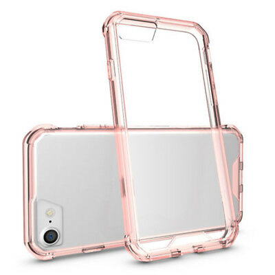 Shockproof Armor Back Transparent Case Phone Cover Fr iPhone X 8 7 6 + Plus tr1