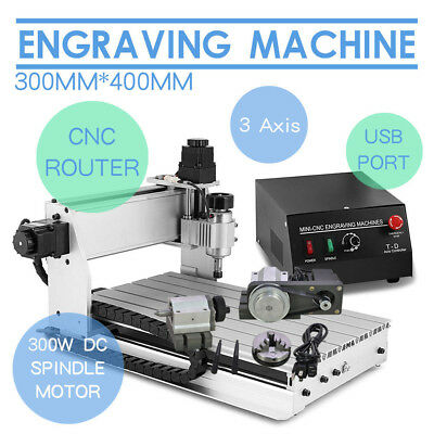 3Axis 3040 Usb Cnc Router Engraver Engraving Cutter Machine Artwork Carving Tool
