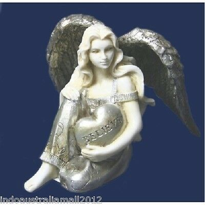 10 x Brand New ANGEL HOLDING HEART STATUE FIGURINE 70mm(PD00555)