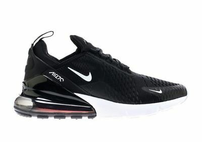 Nike Air Max 270 Black Anthracite and White Oreo Solar Red AH8050-002 Size 4-13