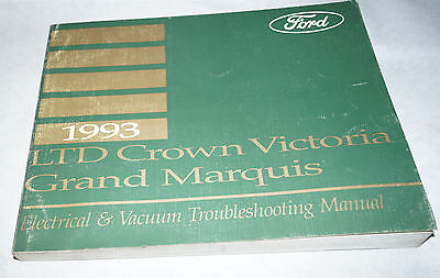 1993 ford crown victoria grand marquis oem wiring diagrams service manual  40663