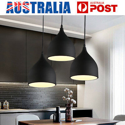 Industrial Retro Ceiling Chandeliers Hanging Pendant Light Home Cafe Lampshade