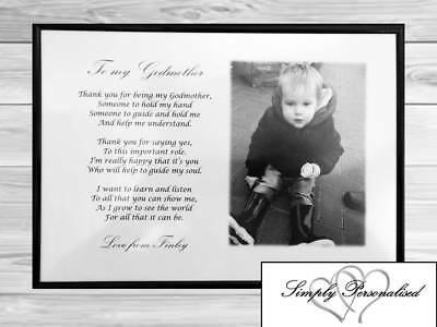 Personalised Godmother Gift Godfather Godparent Thank Keepsake
