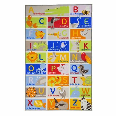 Flair Rugs Childrens/Kids ABC Character Bedroom Rug (FR260)