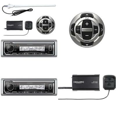 Kenwood Kmrm318Bt Mp3/Usb/Aux Marine Boat Yacht Stereo Receiver - Bundle Combo W