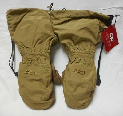 Outdoor Research Firebrand Mitts W/ Liners, Goretex, Coyote, Medium, Nwt