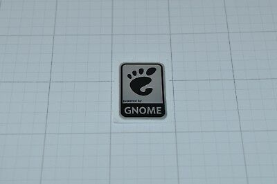 Powered by GNOME Linux Metal Decal Sticker Computer PC Laptop Badge