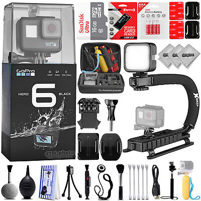 GoPro Hero 6 Hero6 12MP Digital Camera w/ 30PC Sport Action Bundle