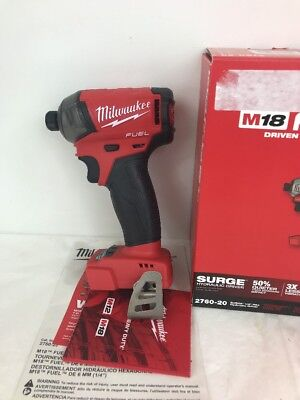 """Milwaukee M18 Fuel Surge 1/4"""" Hex hydraulic Driver 2760-20 Fast ship"""