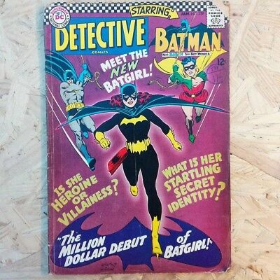 Detective Comics #359 - 1967, First Appearance of Batgirl! Condition VG (4.0)