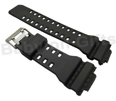 Black 16mm Watch Strap Fits Casio G-Shock GA-100 GA-300 GA-120 GA-110C GD-100