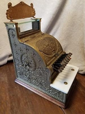 Antique 1909 National Brass Candy Store Cash Register 313 SN 719021 finish 39537