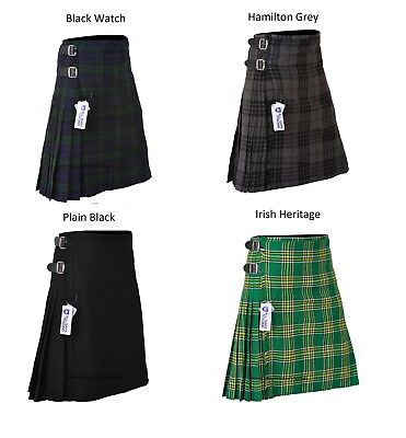 KIDS BOYS, GIRLS 13-Oz Casual / Formal Wear Scottish Tartan Kilt 5 Types Tartans